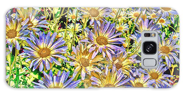 Field Of Colorful Flowers Galaxy Case