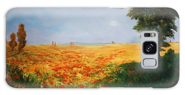Field Of Poppies Galaxy Case by Jean Walker