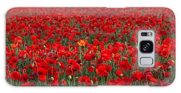 Field Of Poppies Galaxy Case