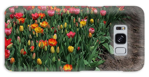 Field Of Tulips Galaxy Case by Bill Woodstock
