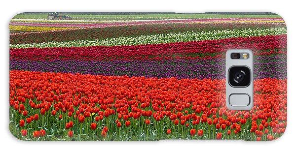 Field Of Tulips Galaxy Case by Jordan Blackstone