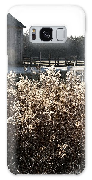 Field With Barn In The Background Galaxy Case by Birgit Tyrrell