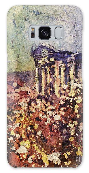 Fields Of Flower- And Roman Temple Galaxy Case