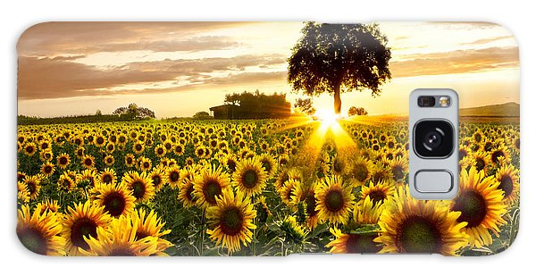 Rural Scenes Galaxy S8 Case - Fields Of Gold by Debra and Dave Vanderlaan
