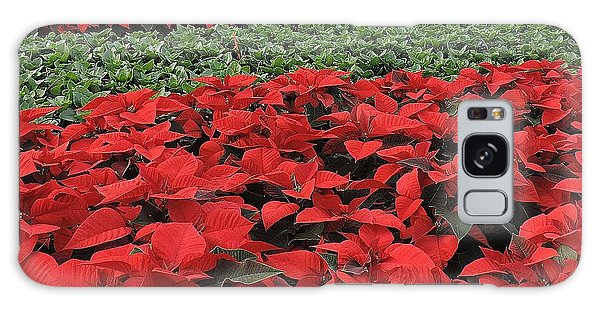 Fields Of Poinsettias Galaxy Case by Peggy Stokes