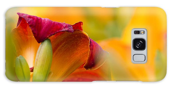 Fiery Flora Galaxy Case by Mary Amerman