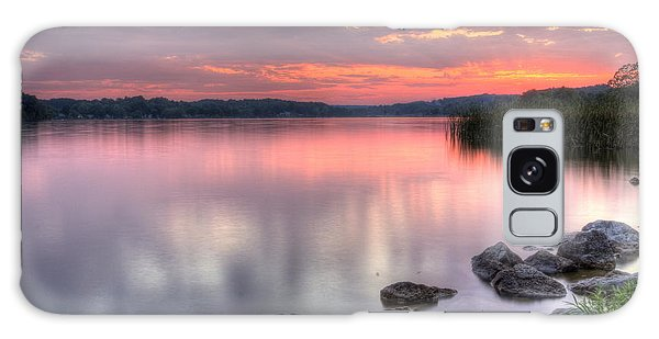 Fiery Lake Sunset Galaxy Case