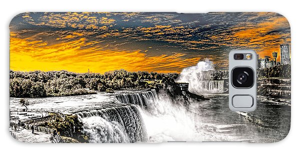 Fiery Niagara Falls Galaxy Case
