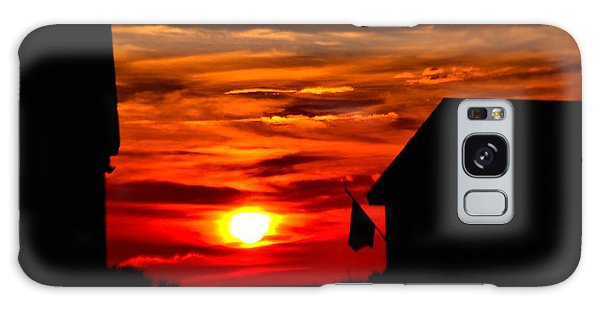 Fiery Outer Banks Sunset Galaxy Case
