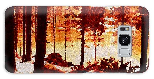 Fiery Red Landscape Galaxy Case