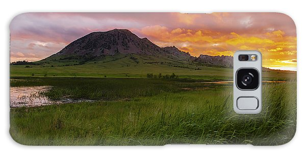 Fiery Sky Over Bear Butte Galaxy Case