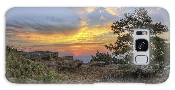 Fiery Sunrise From Atop Mt. Nebo - Arkansas Galaxy Case
