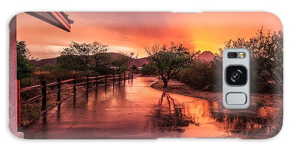 Fiery Sunset Galaxy Case by Beverly Parks