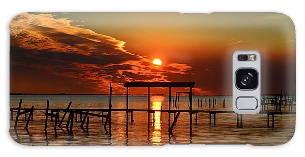 Fiery Sunset Colors Over Santa Rosa Sound Galaxy Case
