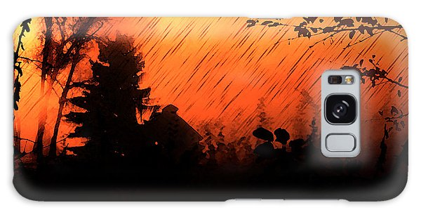 Fiery Sunset Galaxy Case by Persephone Artworks