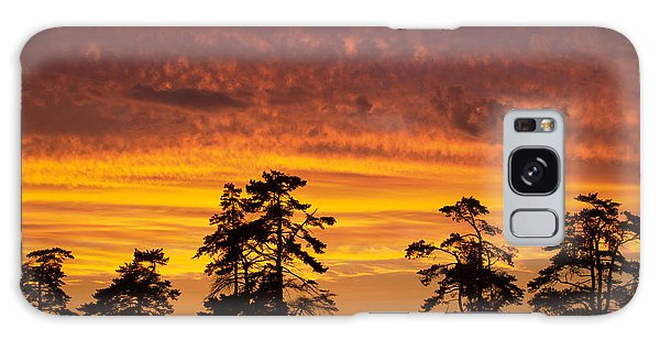 Fiery Sunset Galaxy Case