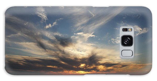 Fiery Sunset Skys Galaxy Case by Christiane Schulze Art And Photography
