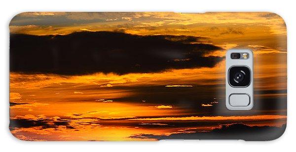 Fiery Sunset Galaxy Case