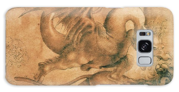 Mythological Galaxy Case - Fight Between A Dragon And A Lion by Leonardo da Vinci