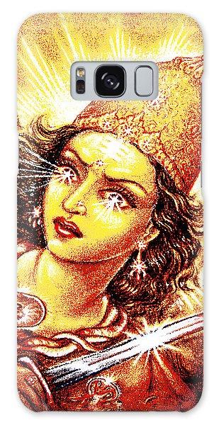 Fighting Goddess Galaxy Case by Ananda Vdovic