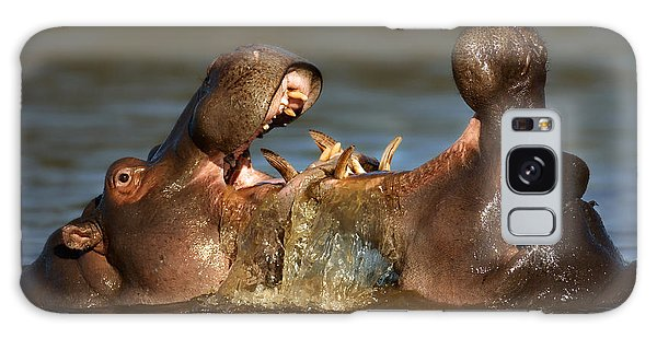 Hippopotamus Galaxy S8 Case - Fighting Hippo's by Johan Swanepoel