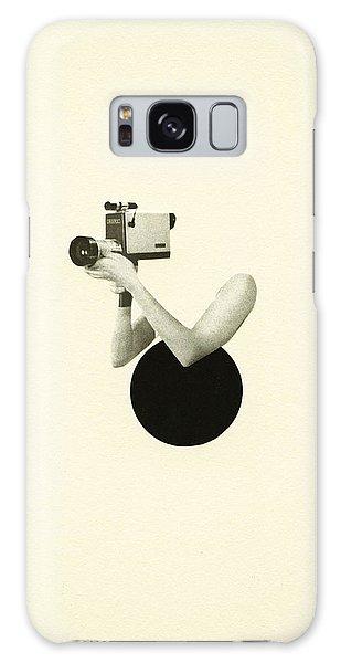 Vintage Camera Galaxy Case - Film Noir by Cassia Beck