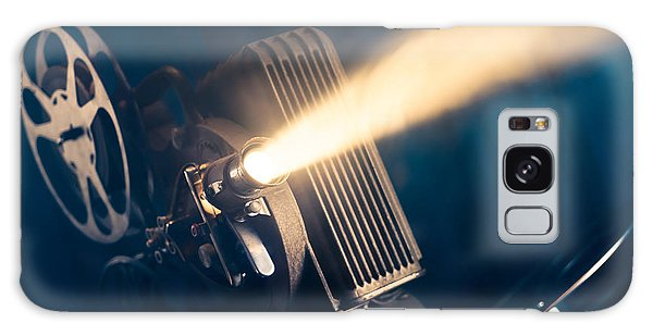Hollywood Galaxy Case - Film Projector On A Wooden Background by Fer Gregory