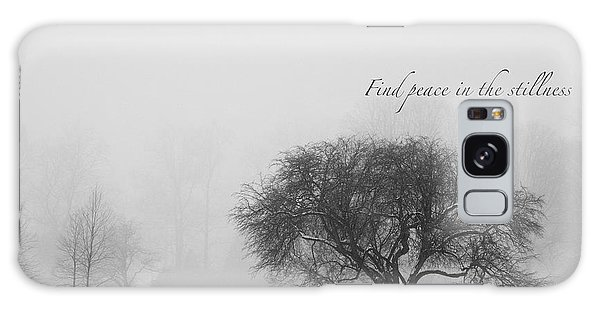 Find Peace In The Stillness Galaxy Case by Ed Cilley