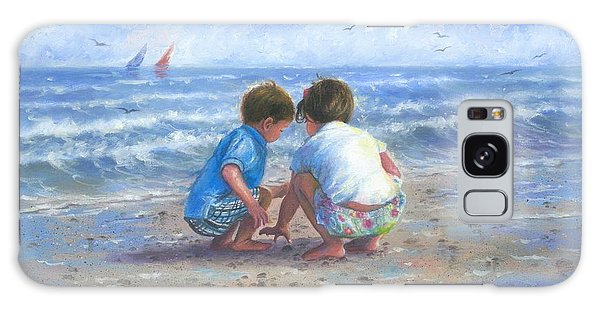 Brothers Galaxy Case - Finding Sea Shells Brother And Sister by Vickie Wade