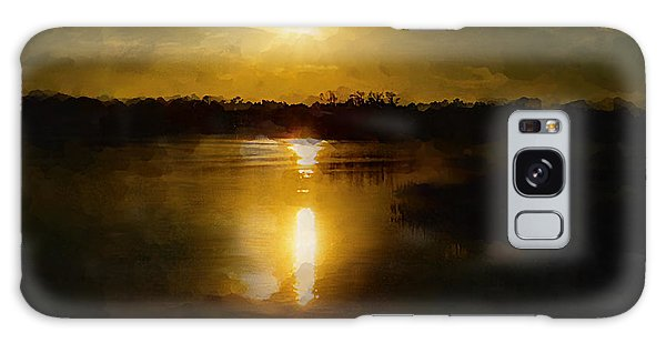 Fine Art Digital Painting Sunset Weeki Wachee Florida Galaxy Case