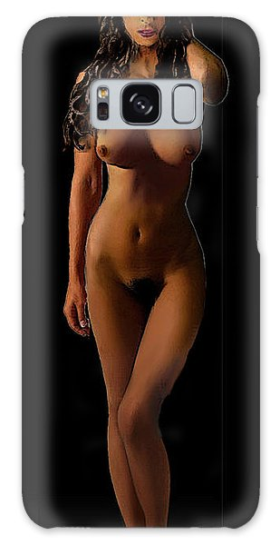 Fine Art Female Nude Jean Standing I Galaxy Case