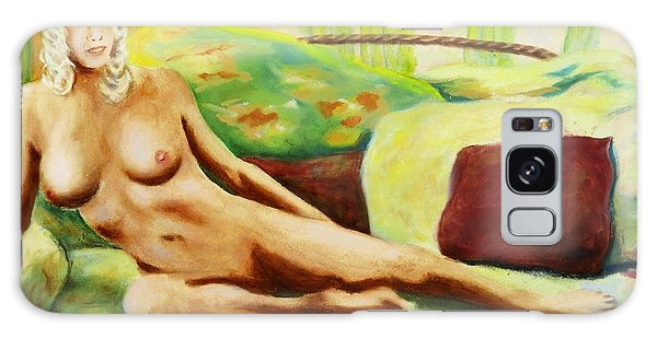 Fine Art Female Nude Sitting Brigit Original Painting Galaxy Case