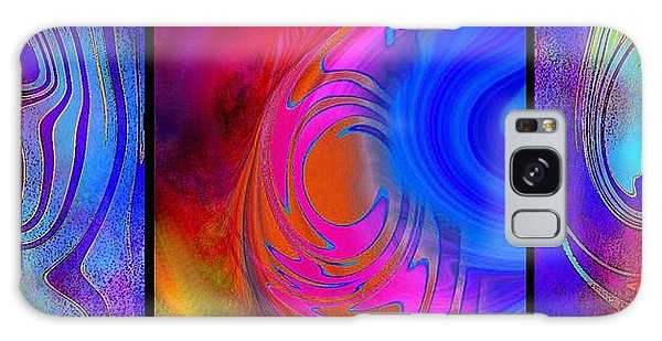 Fine Art Painting Original Digital Abstract Warp 3 Galaxy Case