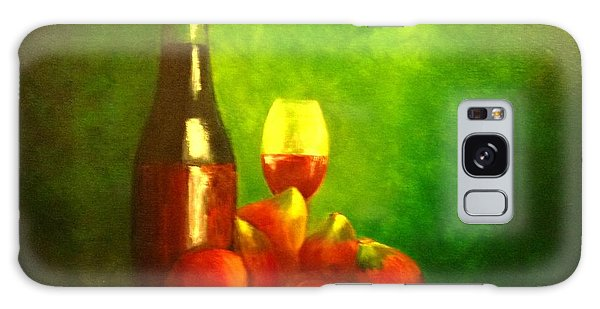 Fine Wine And Figs Galaxy Case by Therese Alcorn