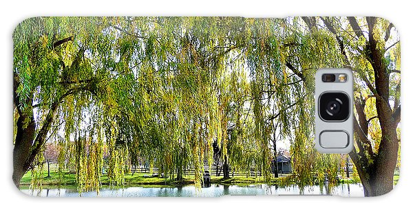 Finger Lakes Weeping Willows Galaxy Case