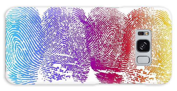 Colours Galaxy Case - Finger Prints by Aged Pixel