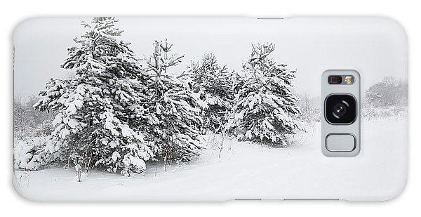Fir Trees Covered By Snow Galaxy Case