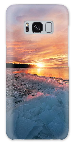 Ice Galaxy Case - Fire And Ice by Christian Lindsten