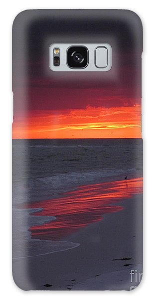 Fire And Water Galaxy Case by Elizabeth Carr