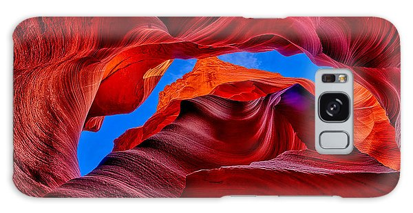 Fire Beneath The Sky In Antelope Canyon Galaxy Case by Greg Norrell