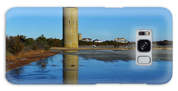 Fire Control Tower 3 Icy Reflection Galaxy Case by Bill Swartwout