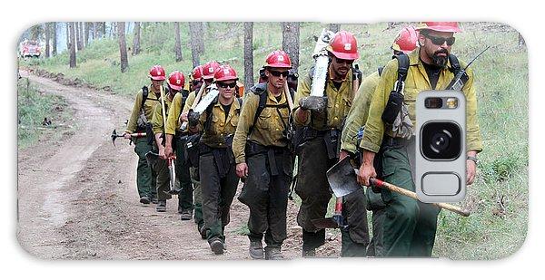 Fire Crew Walks To Their Assignment On Myrtle Fire Galaxy Case by Bill Gabbert
