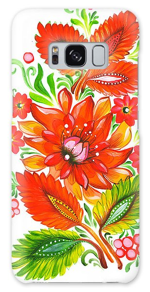 Fire Flower Galaxy Case