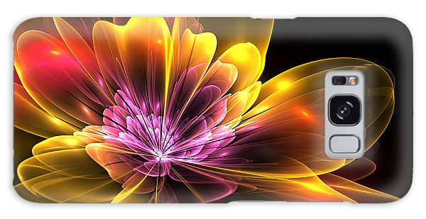 Fire Flower Galaxy Case by Svetlana Nikolova