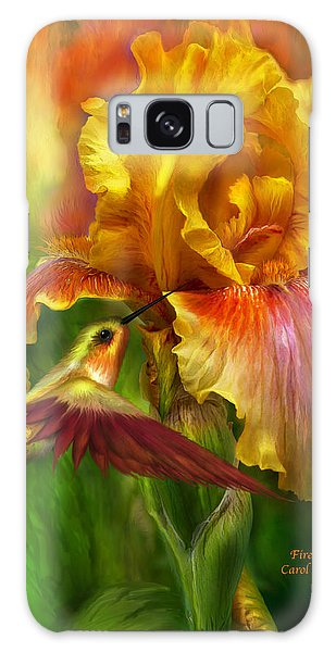 Galaxy Case featuring the mixed media Fire Goddess by Carol Cavalaris