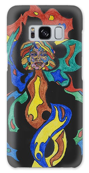 Voodoo Galaxy Case - Fire Goddess by Stormm Bradshaw