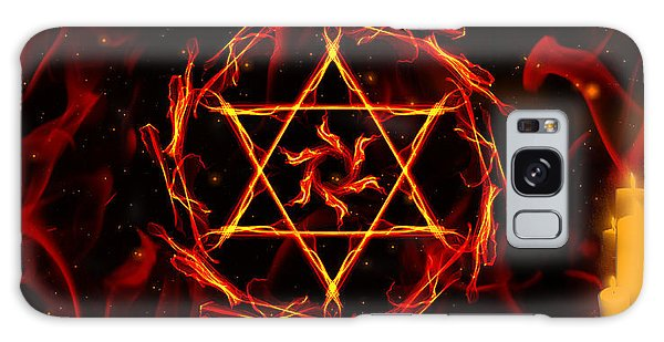 Fire Hexagram Galaxy Case by Persephone Artworks