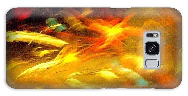 Fire In Motion Galaxy Case by Carolyn Repka