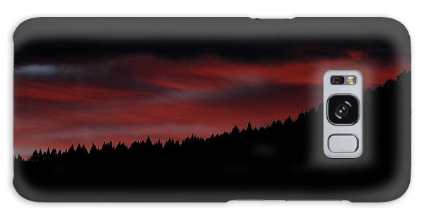 Galaxy Case featuring the photograph Fire In The Sky by Ann E Robson