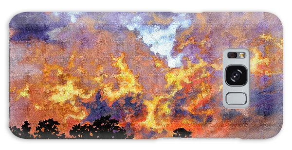 Fire In The Sky Galaxy Case by Craig T Burgwardt